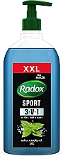 Düfte, Parfümerie und Kosmetik 3in1 Duschgel mit Minze und Meersalz - Radox Men XXL Sport 3in1 Shower Gel