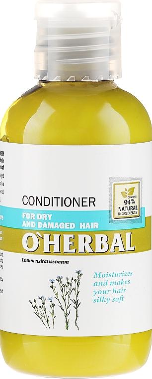 Haarspülung für trockenes und geschädigtes Haar mit Flachs-Extrakt - O'Herbal