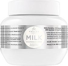 Düfte, Parfümerie und Kosmetik Haarmaske mit Milchproteinen - Kallos Cosmetics Hair Mask Milk Protein