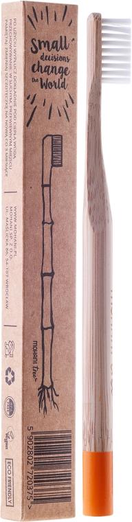 Bambuszahnbürste weich orange - Mohani Toothbrush