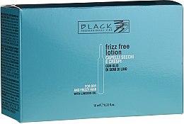 Düfte, Parfümerie und Kosmetik Anti-Frizz Haarampullen mit Leinöl - Black Professional Line Anti-Frizz