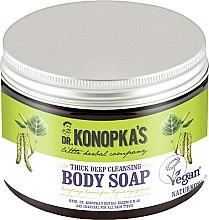 Düfte, Parfümerie und Kosmetik Tiefenreinigende dicke Körperseife mit Aktivkohle - Dr. Konopka's Deep Cleansing Thick Body Soap