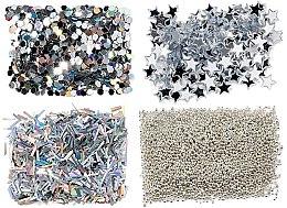 Düfte, Parfümerie und Kosmetik Nageldekorationen-Set - Peggy Sage Nail Glitter Mini Kit Argent