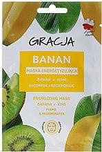 Düfte, Parfümerie und Kosmetik Belebende und straffende Tuchmaske mit Banane und Kiwi - Gracja Energizing Mask