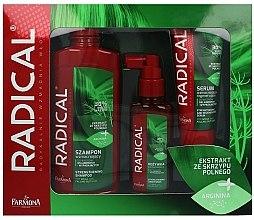 Düfte, Parfümerie und Kosmetik Haarpflegeset - Farmona Radical (Shampoo 400ml + Conditioner 100ml + Haarserum 100ml)