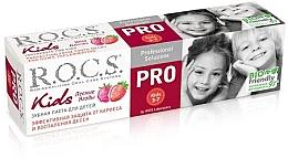 Düfte, Parfümerie und Kosmetik Zahnpasta für Kinder mit Erdbeergeschmack - R.O.C.S. PRO Kids