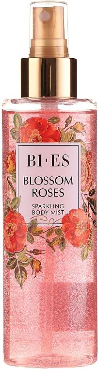 Bi-es Blossom Roses Sparkling Body Mist - Parfümierter Körpernebel mit lichtstreuenden Partikeln