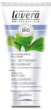 Belebendes Reinigungsgel für Mischhaut - Lavera Belebendes BIO-Reinigungsgel Ginkgo&Traube  — Bild N1