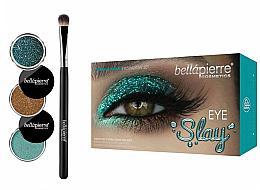 Düfte, Parfümerie und Kosmetik Augen Make-up Set (3x Lidschatten + Lidschattenpinsel) - Bellapierre Eye Slay Kit Mermaid Glam