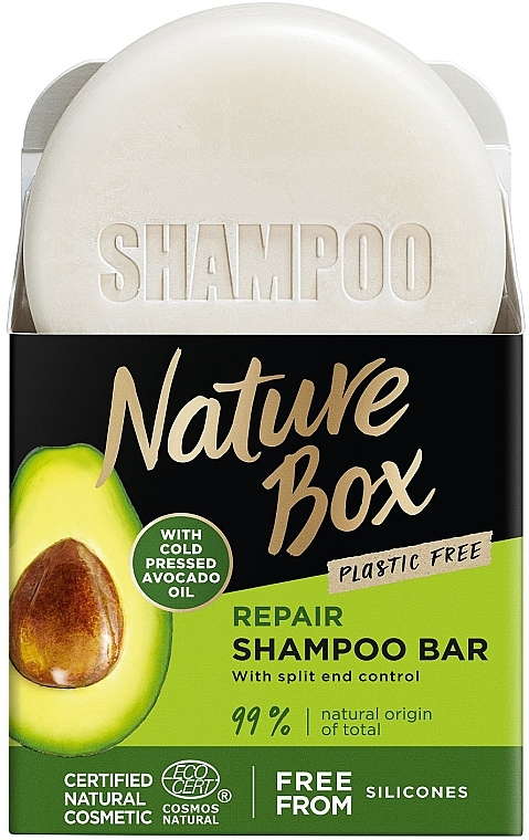 Festes Shampoo mit Avocadoöl - Nature Box Avocado Dry Shampoo