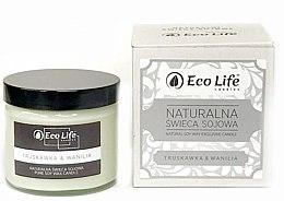 """Düfte, Parfümerie und Kosmetik Natürliche Soja-Duftkerze im Glas """"Erdbeere & Vanille"""" - Eco Life Candles"""