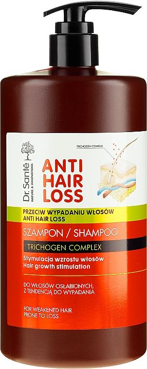 Haarwachstum stimulierendes Shampoo gegen Haarausfall mit Spender - Dr. Sante Anti Hair Loss Shampoo
