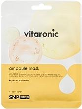 Düfte, Parfümerie und Kosmetik Feuchtigkeitsspendende Anti-Aging Tuchmaske gegen Falten und Pigmentflecken für strahlende Gesichtshaut - SNP Prep Vitaronic Ampoule Mask