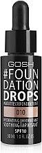Düfte, Parfümerie und Kosmetik Flüssige Foundation - Gosh Foundation Drops SPF10