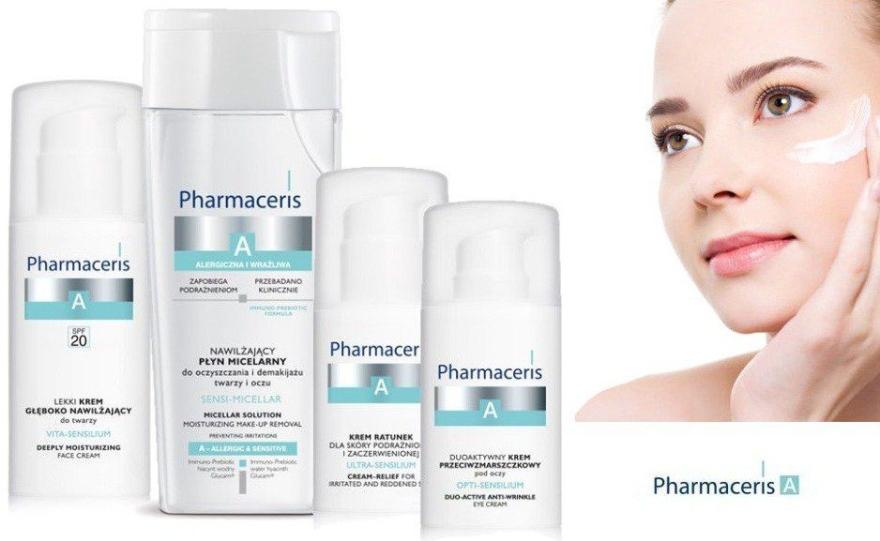 Glättende und straffende Anti-Falten Augenkonturcreme für empfindliche und allergische Haut - Pharmaceris A Opti-sensilium Duo Active Anti-Wrinkle Eye Cream — Bild N4