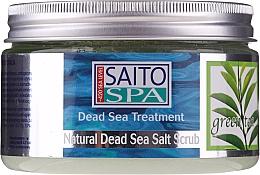 Düfte, Parfümerie und Kosmetik Salzpeeling für den Körper mit Grüntee-Duft und Salz aus dem Toten Meer - Saito Spa Aalt Body Scrub Green tea