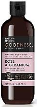Düfte, Parfümerie und Kosmetik Natürliches Duschgel Rose & Geranie - Baylis & Harding Goodness Rose & Geranium Natural Body Wash