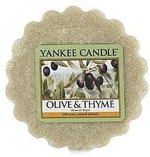 Düfte, Parfümerie und Kosmetik Duftendes Wachs - Yankee Candle Olive & Thyme Wax Melts