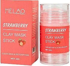 Düfte, Parfümerie und Kosmetik Reinigender und entgiftender Gesichtsmaske-Stick mit Tonerde und Erdbeerduft - Melao Strawberry Clay Mask Stick