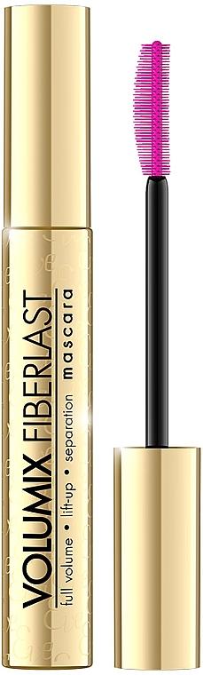 Wimperntusche für mehr Volumen - Eveline Cosmetics Volumix Fiberlast Volume & Lift & Separation Mascara — Bild N1