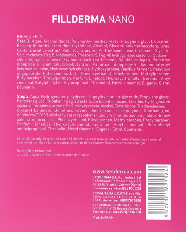 Anti-Falten Gesichtsbehandlung mit Hyaluronsäure in 2 Schritten - SesDerma Laboratories Fillderma nano Wrinkle Filling System — Bild N2