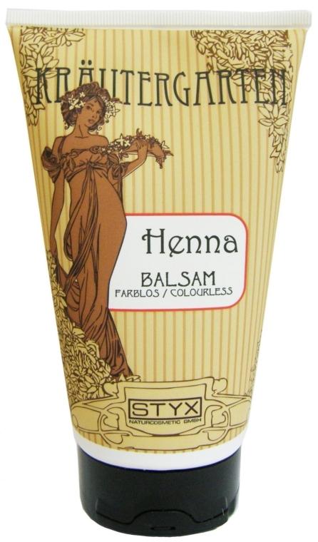 Haarspülung mit farblosem Hennaextrakt für glänzendes, geschmeidiges und leicht kämmbares Haar farblos - Styx Naturcosmetic Henna Balsam