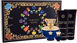 Düfte, Parfümerie und Kosmetik Versace Pour Femme Dylan Blue - Duftset (Eau de Parfum 100ml + Eau de Parfum Mini 5ml + Duschgel 100ml + Körperlotion 100ml)