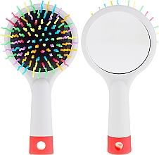 Düfte, Parfümerie und Kosmetik Haarbürste mit Speigel grau - Twish Handy Hair Brush with Mirror Light Grey
