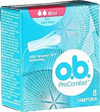 Düfte, Parfümerie und Kosmetik Tampons ProComfort Mini 8 St. - O.b. ProComfort Mini Dynamic Fit Tampons