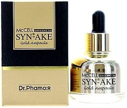 Düfte, Parfümerie und Kosmetik Gesichtsserum mit Gold und Peptiden - Dr. Pharmor McCell Skin Science 365 Syn-ake Gold Ampoule