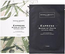 Düfte, Parfümerie und Kosmetik Aufhellende Anti-Aging Tuchmaske mit Swertia- und Bambusextrakt 5 St. - Edible Beauty Bloom of Youth Infusion Mask 5-Pack