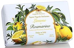 Düfte, Parfümerie und Kosmetik Naturseife Lemon & Rosemary - Saponificio Artigianale Fiorentino Lemon & Rosemary Soap