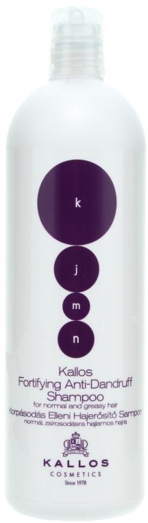 Kräftigendes Anti-Schuppen Shampoo für normales, leicht fettendes Haar - Kallos Cosmetics Fortifying Anti-dandruff Shampoo — Bild N2
