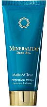 Düfte, Parfümerie und Kosmetik Mattierende Gesichtsreinigungsmaske mit Schlamm für normale und fettige Haut - Minerallium Purifying Mud Masqu