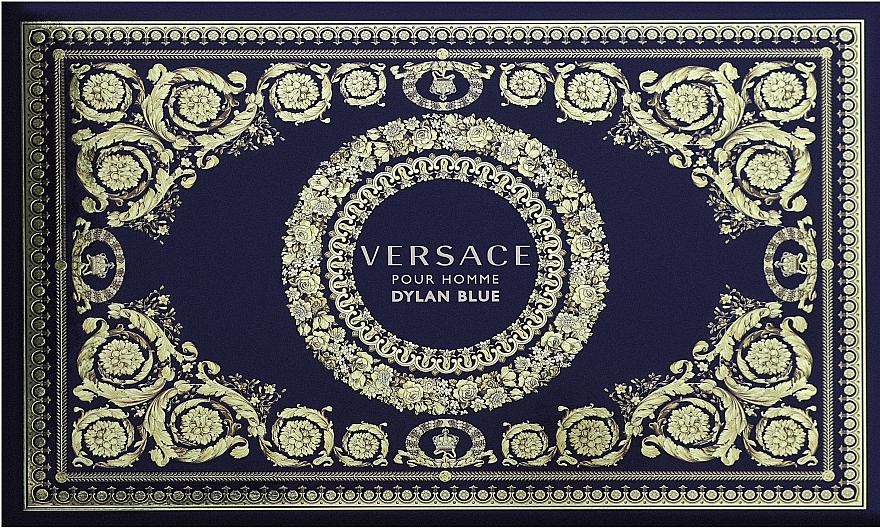 Versace Dylan Blue Pour Homme - Duftset (Kosmetiktasche + Eau de Toilette 100ml + Eau de Toilette 10ml)