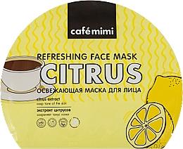 Düfte, Parfümerie und Kosmetik Erfrischende Tuchmaske für das Gesicht mit Zitrusextrakt - Cafe Mimi Refreshing Face Mask Citrus