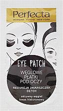 Düfte, Parfümerie und Kosmetik Feuchtigkeitsspendende Detox Augenpads mit Aktivkohle und Hyaloronosäure - Dax Cosmetics Perfecta Eye Patch