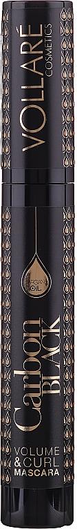 Wimperntusche für mehr Volumen mit Arganöl - Vollare Cosmetics Carbon Black
