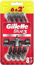 Düfte, Parfümerie und Kosmetik Einwegrasierer-Set 6+2 St. - Gillette Blue3 Nitro