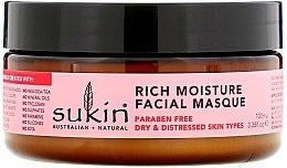 Düfte, Parfümerie und Kosmetik Intensiv feuchtigkeitsspendende Gesichtsmaske mit Hagebutte für trockene und delikate Haut - Sukin Facial Masque