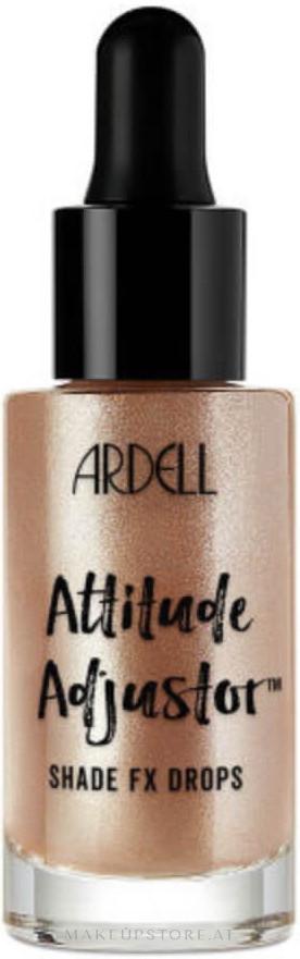 Flüssiger Highlighter - Ardell Attitude Adjustor Shade FX Drops — Bild Golden Sheen