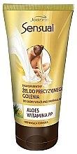 Düfte, Parfümerie und Kosmetik Rasiergel für empfindliche und normale Haut mit Aloe und Vitamin PP - Joanna Sensual Transparent Gel