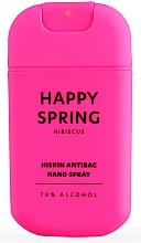 Düfte, Parfümerie und Kosmetik Antibakterielles Handspray mit Hibiskus - HiSkin Antibac Hand Spray Happy Spring