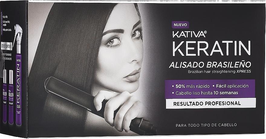 Haarpflegeset - Kativa Keratin (Shampoo 35ml + Conditioner 35ml + Haarmask 100ml)