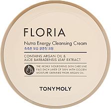 Düfte, Parfümerie und Kosmetik Nährende, energetisierende und feuchtigkeitsspendende Gesichtsreinigungscreme mit Arganöl und Aloeextrakt - Tony Moly Floria Nutra-Energy Cleansing Cream