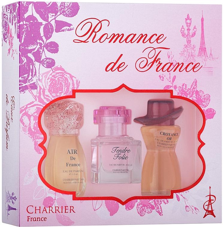 Charrier Parfums Romance De France - Duftset (Eau de Parfum 11.5ml + Eau de Parfum 10.1ml + Eau de Parfum 12ml)