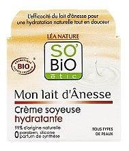 Düfte, Parfümerie und Kosmetik Feuchtigkeitsspendende Gesichtscreme mit Eselsmilch und Aprikosenöl - So'Bio Etic Mon Lait d'Anesse Silky Moisturizing Cream