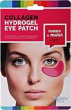 Düfte, Parfümerie und Kosmetik Kollagenmaske für die Haut unter den Augen mit Rotwein - Beauty Face Collagen Hydrogel Eye Mask
