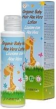 Düfte, Parfümerie und Kosmetik Pflegende Haarlotion für Kinder mit Aloe Vera - Azeta Bio Organic Baby Hair Aloe Vera Lotion