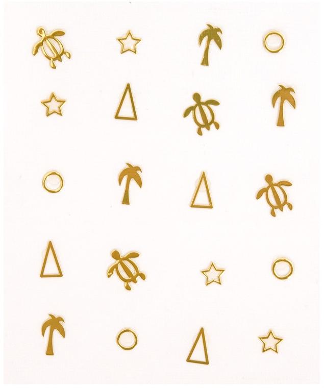 Selbstklebende Nagelsticker metallic - Peggy Sage Decorative Metallic Nail Stickers